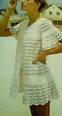 Vintage Frothy Lace Beach Dress Pattern by MAMASPATTERNS on Etsy, $3.50 This is so Cute. Would be A cute Cover up over a top for Work