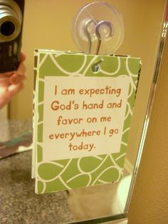 Mirror Scripture Cards -  making them for life verses or inspiration to hang on mirrors