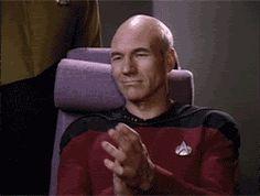 Picard Clapping (Star Trek: TNG) - Reaction GIFs