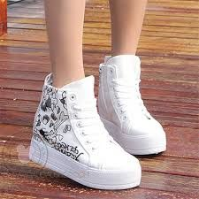 Resultado de imagen de giày sneaker nữ cổ cao