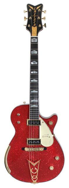 Gretsch Electric Guitar | Masterbuilt Red Sparkle Penguin Custom Shop | Rainbow Guitars #gretschguitars