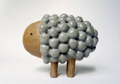 Small Ceramic sculpture called Rounded Moute 187 by CocoetPompon