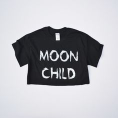 Moon Child Crop Top on sale right now!! #90sGrunge #Kawaii #Pastel #Goth #Croptop #Hipster #Fashionblogger #Moonchild #Halfmoon #Gothgirl #Alternative #Alternativegirl #Moon #Lunar #Gothic