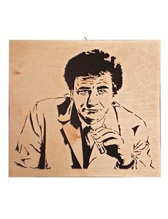 Columbo  Peter Falk scroll saw portrait  by CarteriArtAndDeco