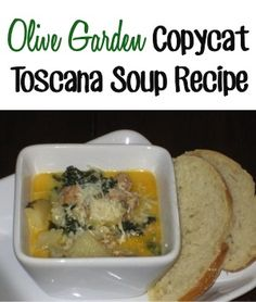 Olive Garden Copycat Toscana Soup Recipe! #olivegarden #soup #recipes
