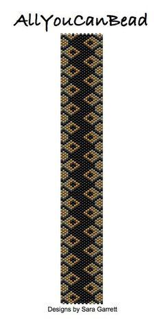 Peyote Bracelet Pattern 456 Bead Weaving INSTANT by AllYouCanBead