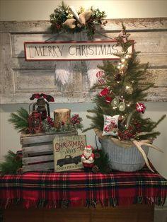 Farmhouse Christmas Cottage Prim Ornaments Decor