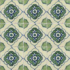 Mexican Tile - Green Toledo 2 Mexican Tile