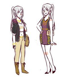 Fancy and regular dressed fem Robin Game Character, Character Concept, Concept Art, Character Design, Female Robin, Fire Emblem Awakening, The Shepherd, Best Waifu, Take A Nap