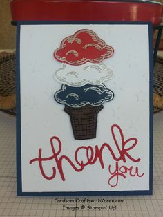 Memorial Day 2015 with Sprinkles of Life stamp set & Tree Builder punch Stampin Up.