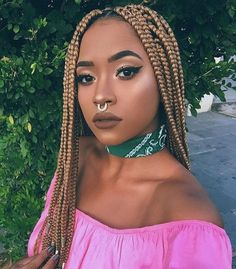 23 Cool Blonde Box Braids Hairstyles to Try - crazyforus 23 Cool Blonde Box Braids Hairstyles to Try Dark Blonde Braids Try On Hairstyles, Braided Hairstyles For Black Women, Box Braids Hairstyles, Hair Updo, Dreadlock Hairstyles, Hairdos, Black Hairstyle, Teenage Hairstyles, Hairstyles 2018