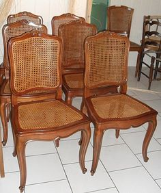 French cane chairs are timeless.