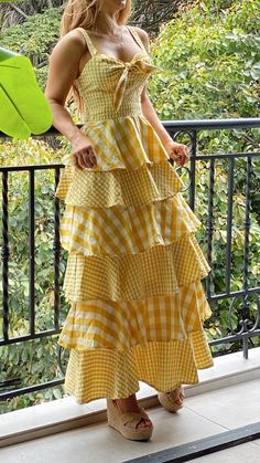 Pretty Prom Dresses, Beautiful Dresses, Nice Dresses, Yellow Maxi Dress, Halter Maxi Dresses, Stylish Dresses, Casual Dresses, Fashion Dresses, Designer Dresses