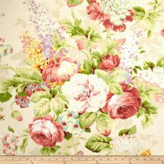 Home Accent Capri Floral Slub Fantasia