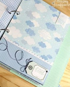 Coordinated small album, change colors for multi uses Scrapbook Bebe, Baby Boy Scrapbook, Mini Scrapbook Albums, Diy Photo Album Scrapbook, Mini Albums, Baby Mini Album, Baby Journal, Baby Memories, Mini Books