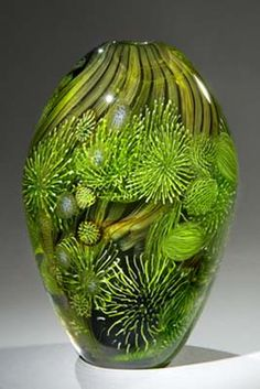Vases – Home Decor : Eric Rubinstein -Read More – Blown Glass Art, Art Of Glass, Glass Artwork, Stained Glass Art, Fused Glass, Glass Ceramic, Ceramic Art, Glass Paperweights, Glass Vase