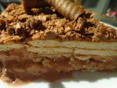 Greek Desserts, Party Desserts, Greek Recipes, Desert Recipes, Cookbook Recipes, Sweets Recipes, Candy Recipes, Yogurt Cake, Icebox Cake