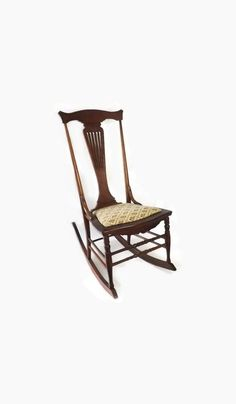 1890 S Murphy Chair Co Pressed Back Rocking Chair W