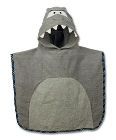 Another great find on #zulily! Shark Hooded Beach Poncho by Stephen Joseph #zulilyfinds