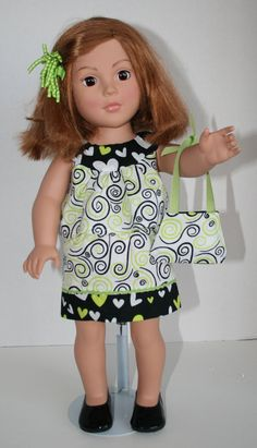 American Girl Doll Clothes  Green and Black by KathiesDollCloset, $9.99