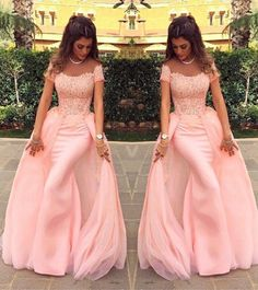Long Evening Dress 2015 Gorgeous V-neck Mermaid Lace Floor Length Pink New Arrival Formal Evening Dresses Arabic Evening Gowns Short Sleeve Prom Dresses, Long Prom Gowns, Mermaid Prom Dresses, Bridesmaid Dresses, Short Sleeves, Short Prom, Dress Long, Wedding Dresses, Pink Formal Dresses