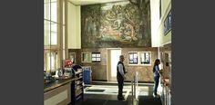 Interior, Geneva, Illinois Post Office | Photo by Matthew Gilson