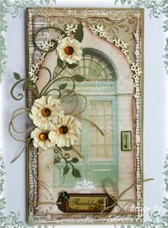 Card made by Cheery Lynn Guest designer Gabrielle Pollacco using Sweet Williams die strip, Fanciful Flourish, Ivy Corner and Manon's Wedding Garland. Papers used are Bo Bunny's The Avenues.