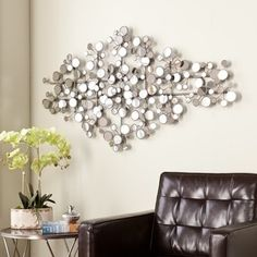 Shop for Harper Blvd Olivia Mirrored Metal Wall Sculpture. Get free delivery at Overstock.com - Your Online Art Gallery Shop! Get 5% in rewards with Club O! - 15994538