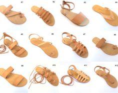 Creta de encaje hasta sandalias de cuero por TheMerakiCompany