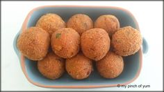 . . . FISH BALLS . . . For Marinade: 1 fillet of Basafish (approx 300 gms) [chopped into bite size pieces] 1/4tsp Turmeric 1 Lime juice 1/2 tsp Pepper powder Rest of the Ingredients: 1 tbsp garli…