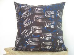 Throw Pillow Cover 17 x 17 18 x 18 Batik Print Tie by AddisonMade, $50.00