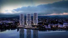 Las torres floridas de #ZahaHadid | #arquitectura #diseño