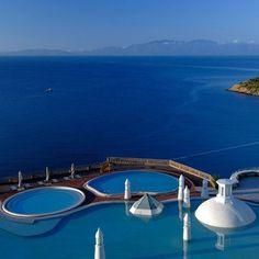 The view from Kempinski Hotel, Barbaros Bay, Turkey