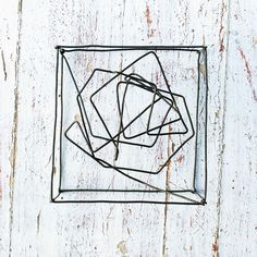 """this may or may not be wire but I really want to make a geometric wire """"form"""" AGHHH!"""