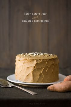 Sweet potato cake with molasses buttercream.  must try this year