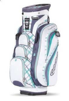 cart golf bags with full length dividers ladies | ... hurricane golf new taylormade womens catalina 3 0 cart golf bag white