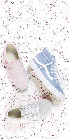 Spot On: Classic styles in Speckle Jersey fabric. Sock Shoes, Vans Shoes, Cute Shoes, Me Too Shoes, Shoe Boots, Shoes Heels, Vanz, Popular Shoes, Luxury Shoes