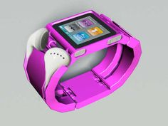 Pink nano wrist band for your ipod with earphone organizer
