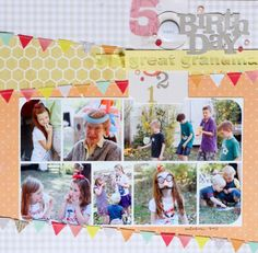 I like the diagonal paper and the photo collage.  I need to use more photo collages on my pages.  It makes scrapbooking lots of photos so much easier.