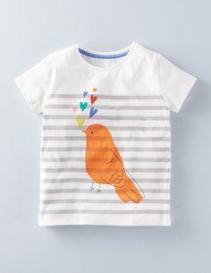 Mini Boden Stripe Graphic Tee (Toddler Girls, Little Girls & Big Girls) T Shirt Photo Printing, T Shirt Painting, Fabric Painting, Polo Outfit, Mini Boden, Boden Uk, Girls Blouse, Cute Tshirts, Cute Baby Clothes