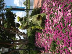Epcot still in bloom  - one day after end of Intl. Flower and Garden Festival. Photo via @Liliane Chandonnet Opsomer.