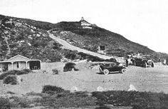 An poster sized print, approx (other products available) - Motor Road Terminus and old lighthouse, Cape Point, Cape Peninsula, South Africa. Date: circa 1920 - Image supplied by Mary Evans Prints Online - Poster printed in the USA Fine Art Prints, Canvas Prints, Framed Prints, Old Pictures, Old Photos, Vintage Photos, Photos Tumblr, Africa Travel, Wonderful Images