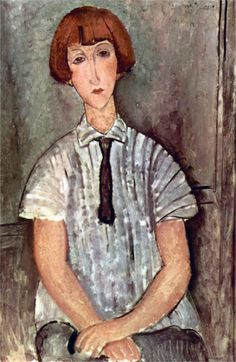 Amedeo Modigliani / Girl with Blouse Amedeo Modigliani, Modigliani Paintings, Italian Painters, Italian Artist, Painting & Drawing, Painting Prints, Art Prints, Painting Clouds, Figure Painting