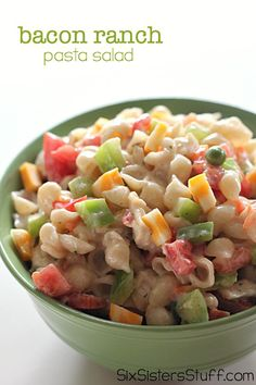 Bacon Ranch Pasta Salad on SixSistersStuff.com - the perfect side dish for summer!