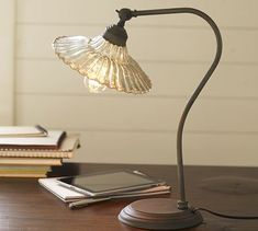 Whitney Fluted Glass Task Table Lamp #potterybarn