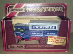 Matchbox Models of Yesteryear 1922 Foden Steam Lorry, Pickfords