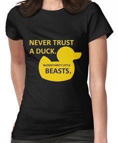 Duck Memes, Funny Duck, Never Trust, Tee Design, Rubber Duck, Ducks, Clutter, Shirt Designs, Tee Shirts