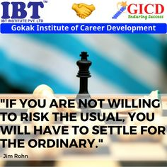 """""""If you are not willing to risk the usual, you will have to settle for the ordinary. Jim Rohn, Career Development, Facebook Sign Up, Success Quotes, The Ordinary"""
