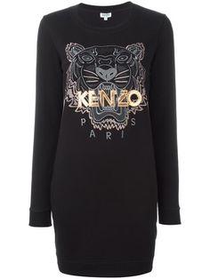 Kenzo платье-толстовка 'Tiger'