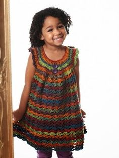 FREE crochet Pattern for Girls - girls tunic